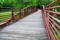 Walking bridge in park Royalty Free Stock Images