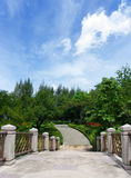 Walking bridge in the park of Thailand Royalty Free Stock Photo