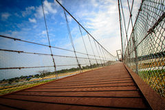 Walking bridge. Thailand in the afternoon Stock Image
