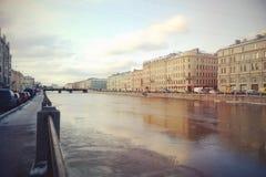 Walking on the bridges of Petersburg Stock Photography