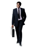 Walking briefcase man Royalty Free Stock Images