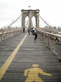 Walking on the Brooklyn Bridge Stock Images
