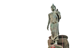 Walking Buddha against white background Royalty Free Stock Photos