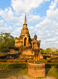 Walking Buddha statue Stock Image