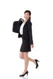 Walking buisness woman Royalty Free Stock Photo