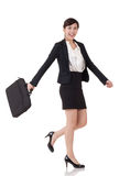 Walking buisness woman Stock Images