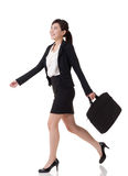 Walking buisness woman Royalty Free Stock Image