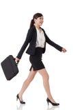 Walking buisness woman Stock Photos