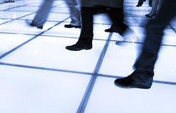 Walking business people Royalty Free Stock Images