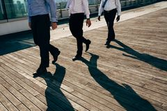 Walking business people Royalty Free Stock Image