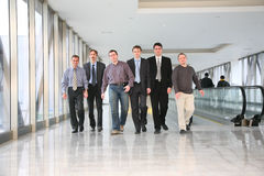 Walking business team Royalty Free Stock Image