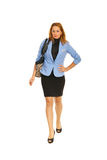 Walking business woman Stock Photos