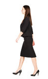 Walking Business Woman. Back View. Stock Image