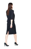 Walking Business Woman. Back View. Royalty Free Stock Photography