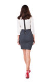 Walking business woman. Stock Photo