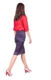 Walking business woman. Stock Photos