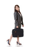 Walking business woman Stock Images