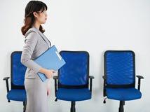 Walking business woman stock image