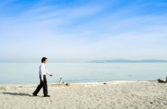 Walking businessman Stock Images