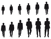 Walking Businessman. Walking business man vector illustration Stock Image