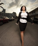 Walking Businesswoman Royalty Free Stock Photos