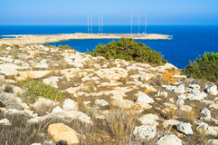 Walking on Cape Greco Stock Images