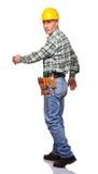 Walking carpenter Royalty Free Stock Photography