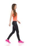 Walking Casual Woman Royalty Free Stock Image