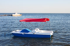 Walking catamaran on the water Royalty Free Stock Photo