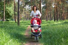 Walking with child Royalty Free Stock Image