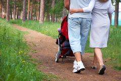 Walking with child Royalty Free Stock Photos