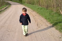 Walking Child. A walking child royalty free stock images