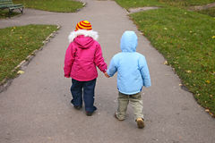 Walking children Stock Photography