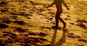 Walking children from ocean beach Royalty Free Stock Photo