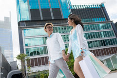 Walking in the city Royalty Free Stock Photography