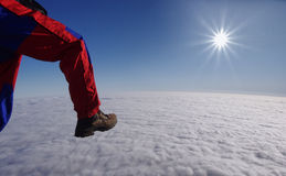 Walking on clouds Stock Images