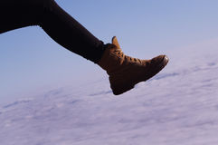 Walking on clouds Royalty Free Stock Image