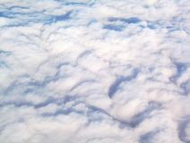 Walking on Clouds. Overhead view of clouds royalty free stock photo