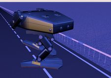 -Walking combat robot. picture 5 Royalty Free Stock Photography