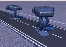Walking combat robot. picture 6 Royalty Free Stock Photography