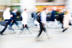 Walking commuters at rush hour Stock Photography