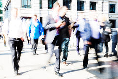 Walking commuters at rush hour Royalty Free Stock Photography