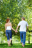 Walking couple Stock Photos