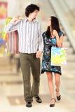 Walking couple royalty free stock photography