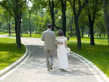 Walking couple royalty free stock images
