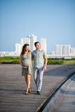 Walking couple Royalty Free Stock Image