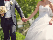 Walking Couple in Park Royalty Free Stock Photos