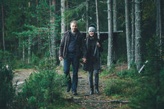 Walking Couple Royalty Free Stock Photo