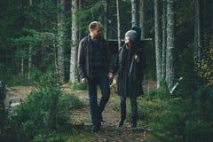 Walking Couple Stock Images