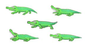 Walking crocodile illustration stock image